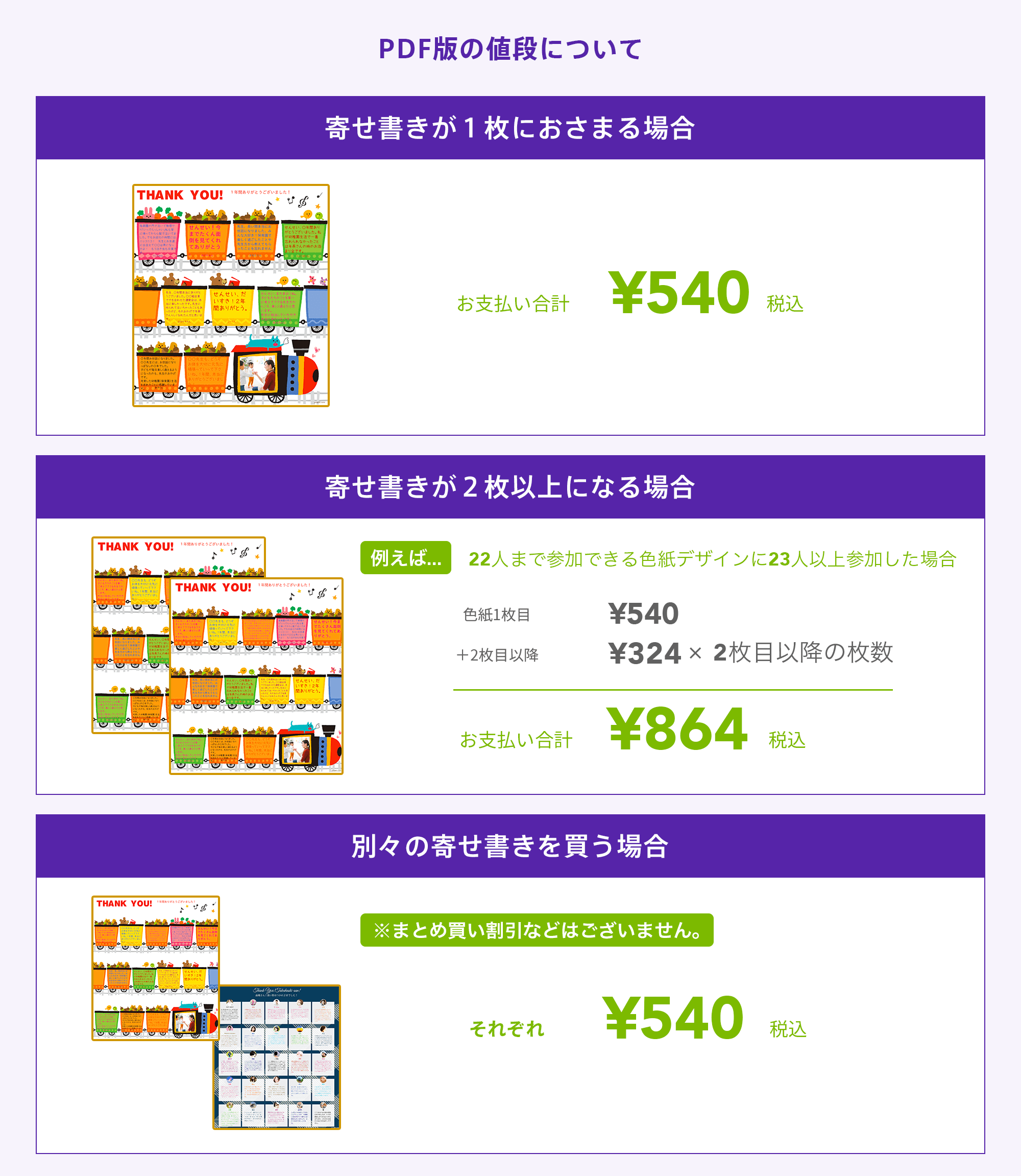 PDF版の金額